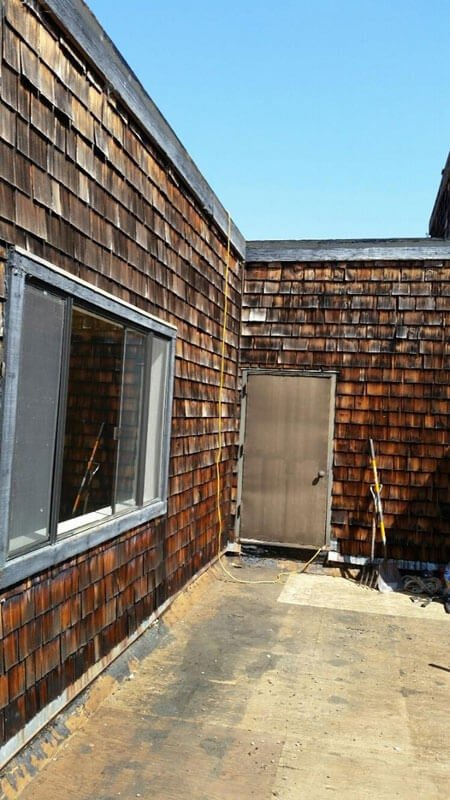 Cedar Shake Siding Repair - Before